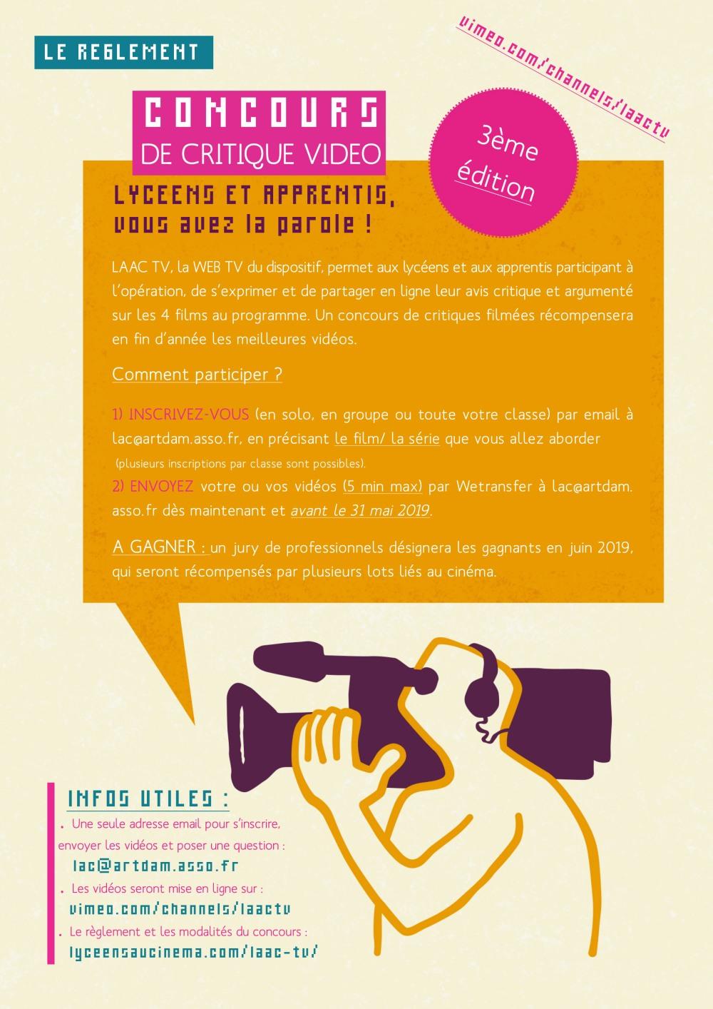 3eme edition concours critique video laac bourgogne